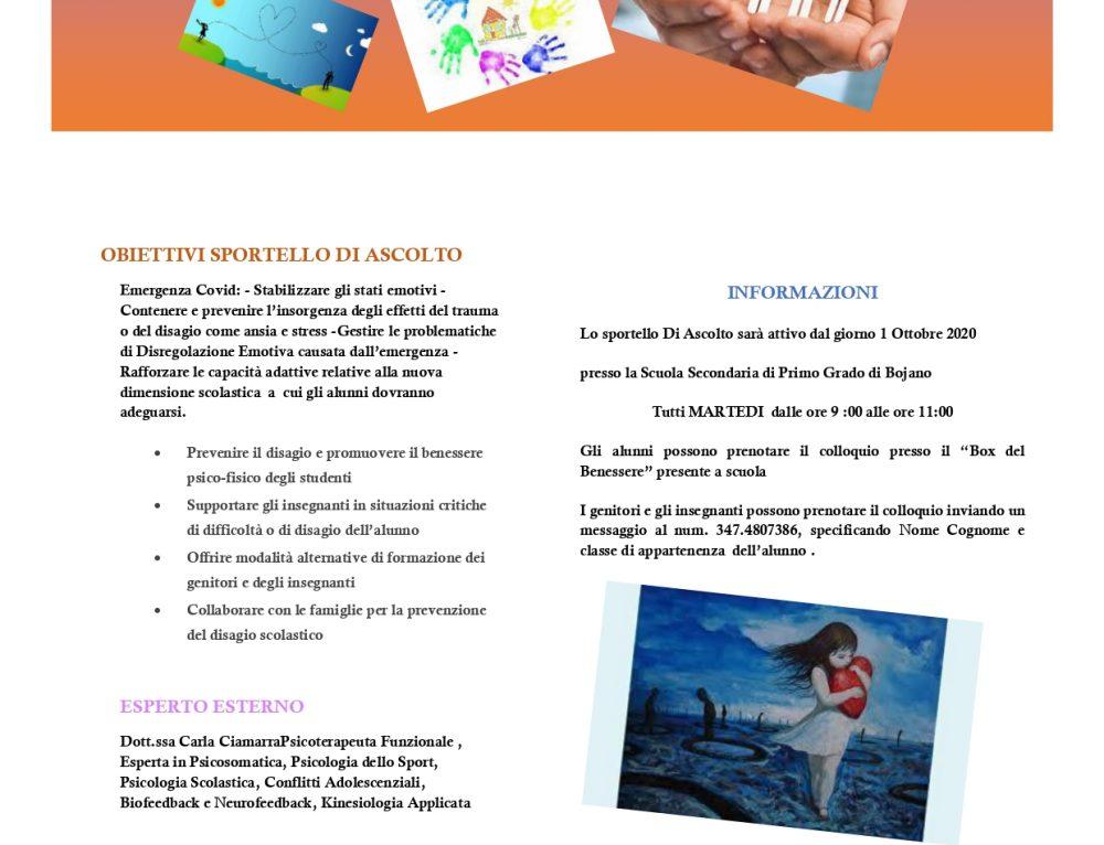RITROVARSI: sportello di ascolto psicologico  – Scuola Secondaria di I Grado di Bojano