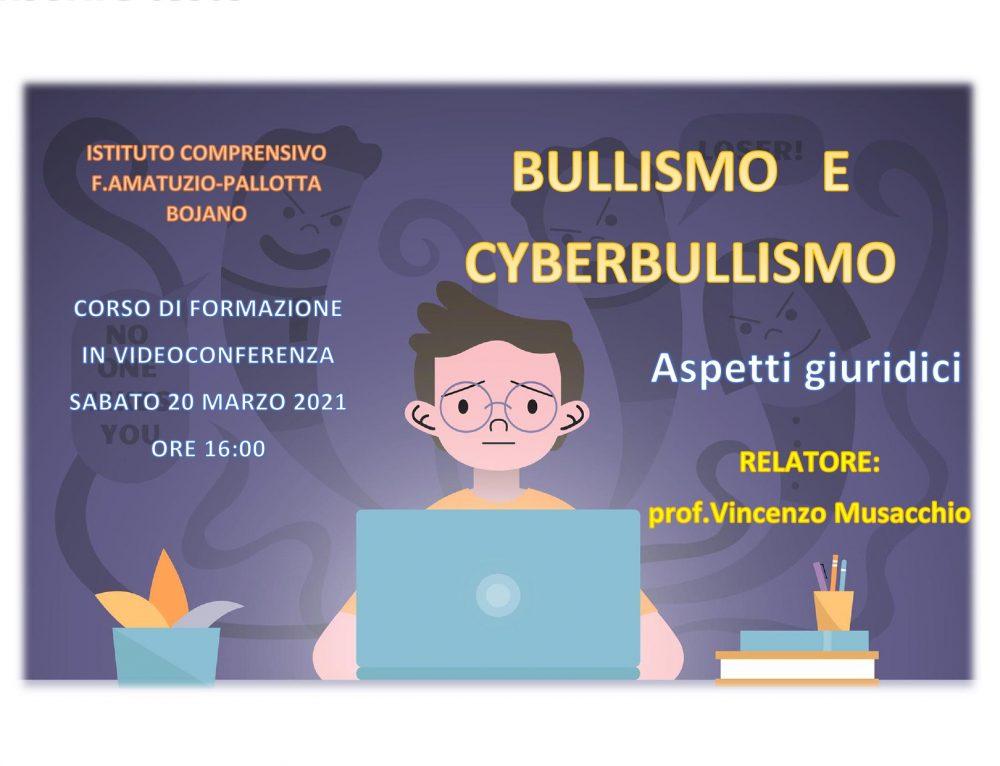 A.S. 2020/21 – LOCANDINA CORSO DI FORMAZIONE – BULLISMO E CYBERBULLISMO